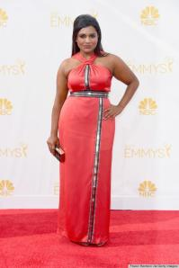 my current icon Mindy Kaling looks incred wearing CUSTOM MADE Kenzo who as she reminded us via twitter doesn't normally make gowns. Well both Mindy & Kenzo have done well in presenting themselves tonight. I am still wounded from the blow of The Mindy Projects Emmy nominee snub. (boo,hiss,cry)