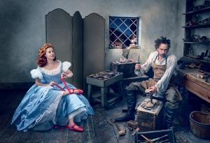 Tim Burton & Amy Adams for Vogue December 2014 Shot by Annie Leibovitz