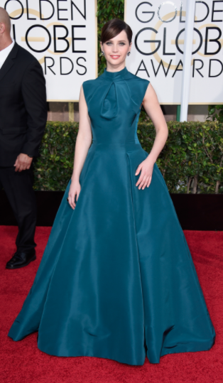Oh Felicity Jones! You absolute delight. I love this girl so much and her Dior gown is the perfect choice for the GG's. The colour is stunning and everything you would want in a Dior dress. Doesn't she just look like a little doll? Such a hun!