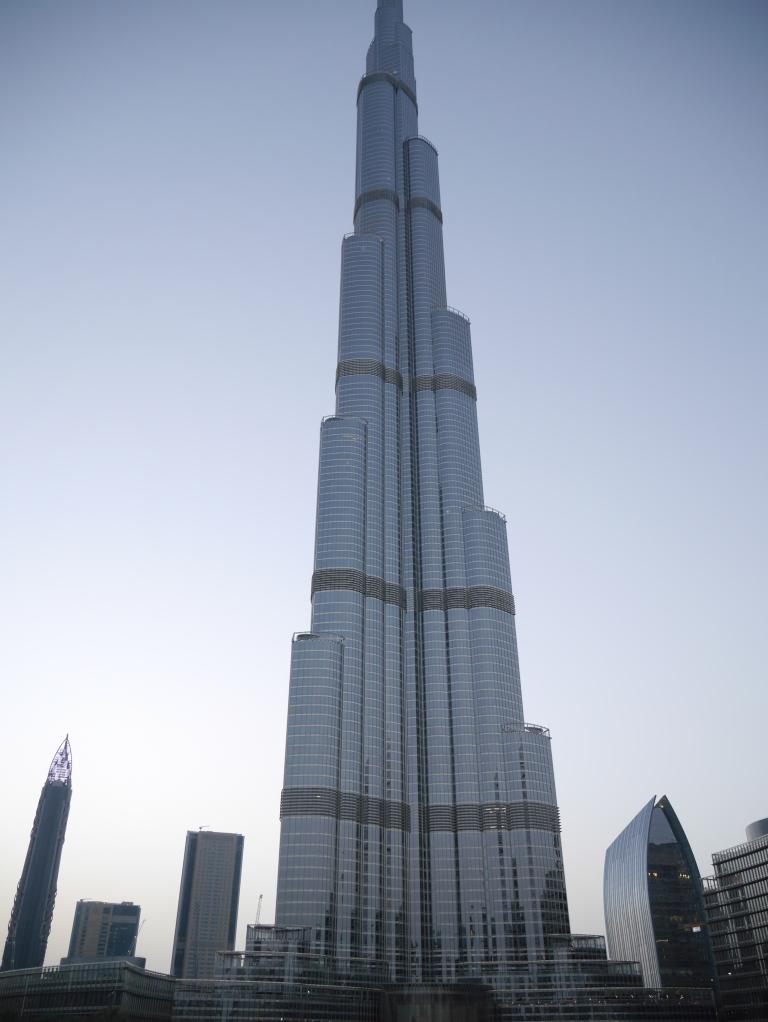 dinner view of the burj